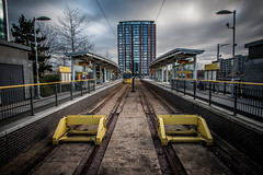Tram Stop, Media City (Neil Nicklin Photography) Tags: city sky architecture modern canon manchester photography media long exposure angle wide neil architect imperial salford quays 2015 70d nicklin