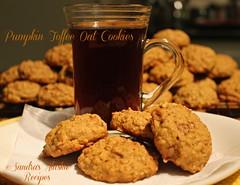 Sandra's Alaska Recipes: SANDRA'S PUMPKIN TOFFEE OAT COOKIES recipe... (sandrasalaskarecipesphotographyretail) Tags: cookies alaska pumpkin dessert photo image spice tasty pic best oatmeal recipes easy quick toffee oat sandras