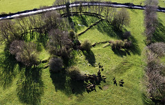 Close up KAP Shot of the Triple Ring Fort at Lissacurkia (Jim Knowles (West Lothian Archaeological Trust)) Tags: ireland kite west bronze photography fort group aerial ring queen age trust kap archaeological barrow connacht lothian roscommon tulsk rathcroghan carnfree medbs lissacurkia frech