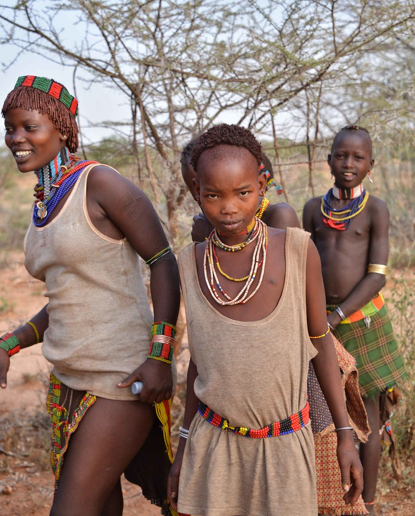 group of naked african girls