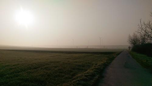 Joggen vor der Sonnenfinsternis