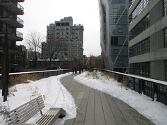 High Line Snow Covered Railroad Overpass Tracks to Nowhere 8333 (Brechtbug) Tags: road park street new york city nyc railroad winter urban snow streets west art architecture garden way design march high downtown gallery path walk manhattan district balcony packing side nowhere tracks overpass rail pedestrian mini el meat line midtown covered mezzanine transportation boardwalk former elevated blizzard derelict reclamation highline skyway redesign the remodeled 2015 03072015