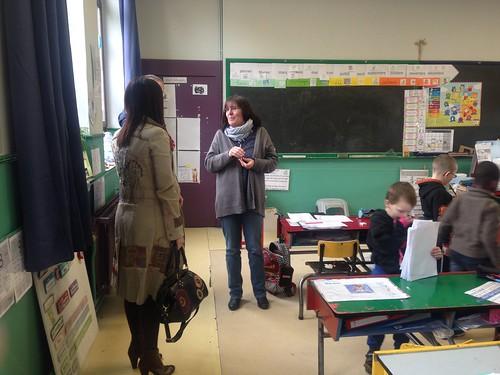 Visite de terrain Jumet, 'école Saint-Joseph D'Heigne, les Petites plumes et les P'tits potes.