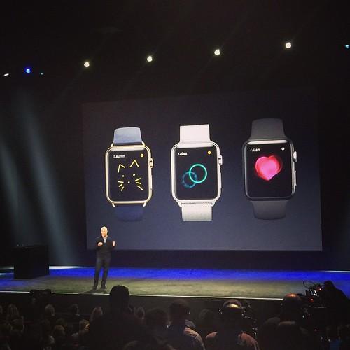 Con #applewatch se pueden mandar corazones y Dibujitos #appleevent