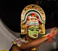 Kathakali dancer. Kerala, India (ravalli1) Tags: india art dance costume dancers indian traditional kerala kathakali 2014 kumarakom