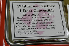 1949 Kaiser DeLuxe detail (bballchico) Tags: 1949 kaiser deluxe convertible 4door thelemaycollection northwestrodarama kaiserdeluxeconvertible 206 washingtonstate