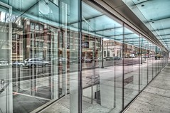 Reflections (Grant Mattice Photography) Tags: art glass architecture reflections britishcolumbia cities streetscenes newwestminster grantmatticephotography anvilcentre