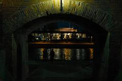 the man of mystery (i.v.a.n.k.a) Tags: man reflection mystery night river sony alpha ivana hesova