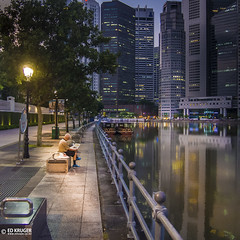 Singapore Morning (Ed Kruger) Tags: street city morning travel blue windows light sunset sky reflection water architecture night clouds sunrise buildings dark newspaper singapore asia southeastasia cityscape asians waterfront streetphoto copyrights allrightsreserved cityscene 2014 travelphotography peopleofasia asiancities triver edkruger asiancountries cultureofasia photosofasia abaconda qfse kirillkruger rodkruger millakruger
