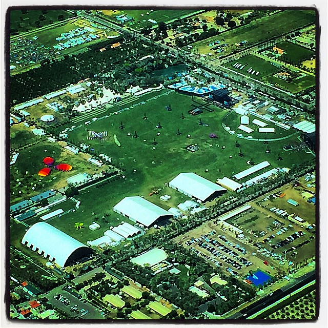 #COACHELLA #aerialview Shot by my friend Charlie (a pilot)