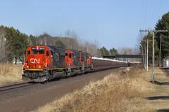 CN 5431 - Limestone Loads - Munger, MN (John Fladung) Tags: railroad cn train limestone canadiannational emd canadiannationalrailway emdsd60 classicpower emdpower limestoneloads cn5431 mungermn