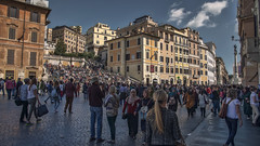 The Spanish Steps (Scalinata di Trinit dei Monti) (emptyseas) Tags: city people italy rome roma john nikon europe roman steps tourists spanish busy di dei monti d800 keats trinit the scalinata emptyseas