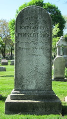 Grave Site of Pinkerton Detective Agency Employees (Chicago Crime Scenes) Tags: chicago crime civilwar lincoln holmes detective detectives jamesyoungergang baltimoreplot