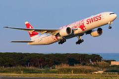 Swiss Air - Boeing 777 - People's plane livery - HB-JNA (j.borras) Tags: barcelona airplane swiss air bcn boeing takeoff 777 avión spotting departing rwy25l lebl hbjna