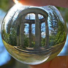 Spherical view (ttelyob) Tags: ball crystalball pashley pashleymanor pashleymanorgardens picmonkey