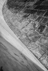 (orwa_farran) Tags: city nyc blue shadow sky blackandwhite white abstract art texture colors monochrome field lines architecture stairs studio landscape la artist outdoor geometry stadium horizon line depth doha qatar katara