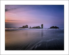 Sunset in Bayas I / Atardecer en Bayas I (tmuriel67) Tags: sunset sea seascape beach nature atardecer spain nikon colours atmosphere asturias paisaje highlights colores nubes bluehour atlanticocean haida ndfilters playadebayas