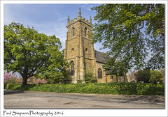 St Lawrence, Aylesby, North East Lincolnshire (Paul Simpson Photography) Tags: trees tree tower history church grass sunshine religious spring blossom religion historic stlawrence stonebuilding villagechurch photosof imageof northeastlincolnshire photoof imagesof aylesby sonya77 paulsimpsonphotography may2016