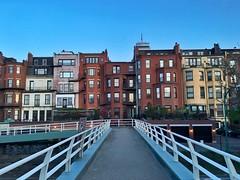 Back Bay Brownstones ((Jessica)) Tags: boston architecture buildings footbridge dusk massachusetts newengland esplanade backbay brownstones pw storrowdrive