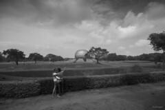 Auroville (subhajyoti) Tags: bw india mono cloudscape pondicherry subhajyoti