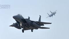 Double strike (darrenijames) Tags: suffolk nikon fighter eagle wing e strike boeing douglas f28 48 raf fw mcdonnell f15 400mm lakenheath d7200
