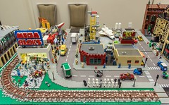 PSLTC's Post-Apocalyptic Plaza (SEdmison) Tags: seattle washington lego apocalypse comicconvention emeraldcitycomicon apoc 2016 postapocalyptic eccc psltc bricknation emeraldcitycomicon2016