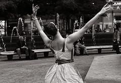 Dancing in Columbus Circle_4 (B&W) (VMilian) Tags: nyc newyorkcity dancing manhattan streetphotography couples columbuscircle nikond3200