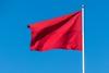 Rødt flagg som vaier friskt i vinden (Robin Lund) Tags: red flag banner communism flagg 1mai flagging fane rødt fridag kommunisme europavei6 arbeiderbevegelse flaggdag arbeidernesinternasjonalekampdag arbeidskamp arbeiderbanner arbeiderflagg demonstrasjonsdag kommunistflagg