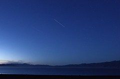 ISS over Pyramid lake (CatseyeGomez) Tags: lake night pyramid space nevada shuttle iss