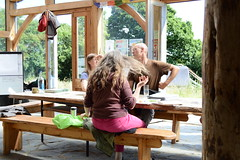 Hair flick (Permaculture Association) Tags: wales gathering ecovillage permaculture 2016 lammas cyrmu paramaethu