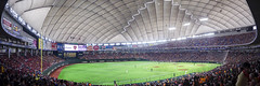 Tokyo Dome (Ted Tsang) Tags: roof people panorama sports japan architecture tokyo baseball stadium wide olympus   bunkyo tokyodome em1     yomiurigiants hiroshimatoyocarp      1240mmf28