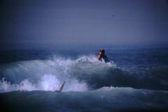 12-1969- Redondo Surf (17) (foundslides) Tags: redondobeach ca calif california analog slide slides irmalouiserudd johnhrudd foundslides kodachrome kodak vintage surfer surfers surfing breakers wave waves sports water ocean sea seasid 1969 1960s transparencies rudd irma wetsuit wet december socal southbaycameraclub south bay southbay usa surfboard