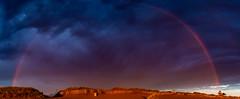 Sunrise Rainbow (James P. Mann) Tags: light beach sunrise golden rainbow shediac parlee