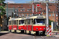 Tatra T4D #931+901 HAVAG Hallesche Straenbahnfreunde Halle (Saale) (3x105Na) Tags: germany deutschland tram halle strassenbahn tatra zajezdnia saale tramwaj betriebshof btf sachsenanhalt niemcy t4d havag hallesche strasenbahnfreunde 931901