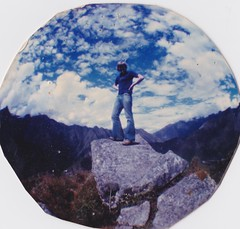 John of the Andes (brightasafig) Tags: peru inca huaynapicchu machupicchu andes fisheye summit ego egotism southamerica mountain flares sky horizon cloud