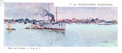 1895-1905 - SALAZIE  en rade de Colombo (MIKOS-35) Tags: les paquebots postes des messageries avaient une livre blanche lorsquils taient sur la ligne dextrmeorient sagon japon et coque noire autres lignes