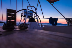Silk (Quasqua) Tags: 2016 aegeansea boats greece grèce sailingday santorini sunset yacht