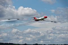 Boeing 727 escorted by the Blades (S Walker) Tags: show air airshow international oil spill fia farnborough blades response 727 2016