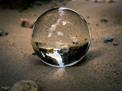 Beach Ball (Laith Stevens Photography) Tags: light abstract reflection beach ball fun cool sand rocks crystal outdoor olympus reversed f28 omd em1 1240mm olympusinspired