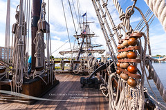 El Galen Andaluca deck view (Craig - S) Tags: baycity baycitymichigan galenandaluca michigan tallshipcelebration bow fore mast rigging ropes tallship elgalen 2016 tourism travel starbord