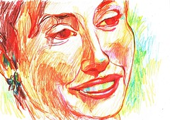 LINEAS CONFUSAS (GARGABLE) Tags: portrait retrato sketch drawings dibujos colores cartulinas gargable angelbeltrn apuntes ojos gente