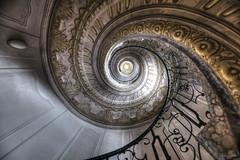 spiral staircase II (flowerpower.1969) Tags: stairs staircase stufen wendeltreppe treppen alt stiege stiegenaufgang