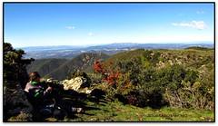 Esmorzant a la Roca Roja, Pla de la Calma (Jess Cano Snchez) Tags: elsenyordelsbertins canon ixus310hs catalunya catalua catalonia espanya espaa spain barcelonaprovincia valles vallesoriental tagamanent sui montseny parc parque park natural pladelacalma cinglesdeberti cinglesdegallifa montserrat santllorendelmunt senderisme senderismo hiking gebracb