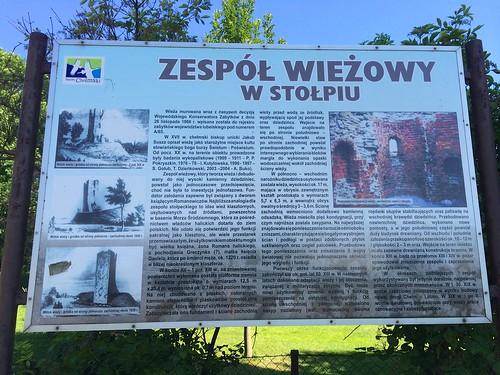 Tablica Zespół Wieżowy w Stołpiu