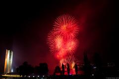 Red (thezaza42) Tags: sky lake night fireworks smoke capital australian australia canberra act territory skyfire 2015 skyfire2015
