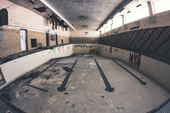 (Jeffrey Stroup) Tags: abandoned pool ruins decay exploring cleveland fisheye swimmingpool forgotten urbanexploration urbex ruinporn