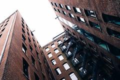Escape (Alexander Tran   atranphoto.com) Tags: street city building boston ma fire escape view massachusetts lookup wharf mass vsco atran atranphoto vscofilm x100s