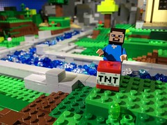 Woodrow Village Minecraft: TNT! (woodrowvillage) Tags: brick water river toy canal stream village lego zombie steve valley legos animation block dynamite tnt build creeper brickfilm woodrow minifigure moc minecraft minecrap