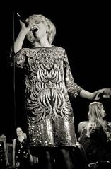 IMG_0930 (bobobahmat) Tags: portrait people bw music woman white black girl choir concert dress scene lviv ukraine singer microphone performer ukrainian bnw mukha