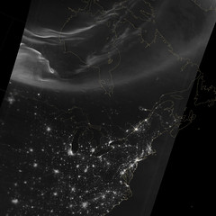 Aurora over North America